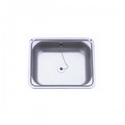 Sink with stainless...