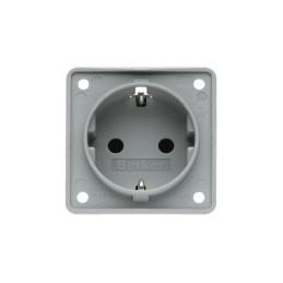 Socket outlet. 230V, gray
